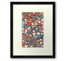 Psychedelic Marbled Paper Blob Framed Print