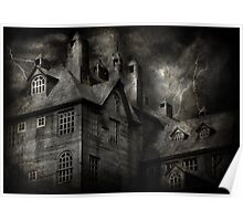 Fantasy - Haunted - It was a dark and stormy night Poster