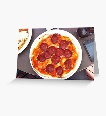 Pizza Calabrese Greeting Card