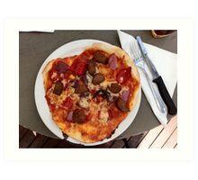 Pizza Salsiccia Festa Art Print