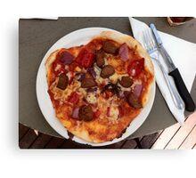 Pizza Salsiccia Festa Canvas Print