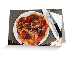 Pizza Salsiccia Festa Greeting Card
