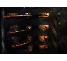 Steampunk - Pull the Switch Photographic Print