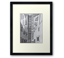 Floating Windows Framed Print