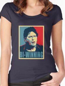Bi Winning Women's Fitted Scoop T-Shirt