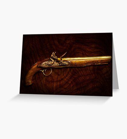 Gun - Flintlock Pistol  Greeting Card