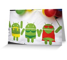 gay pride androids Greeting Card