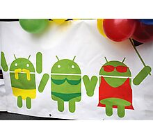 gay pride androids Photographic Print