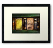 Teacher - Books you use in school  Framed Print