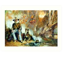 The Singing Swaggie - Waltzing Matilda Series Art Print