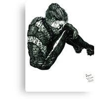 Vigilant [Pen Drawn Figure Illustration] Canvas Print