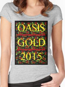 Oasis Gold in Spring Women's Fitted Scoop T-Shirt
