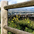 Mountains Through The Fence by AmyAutumn