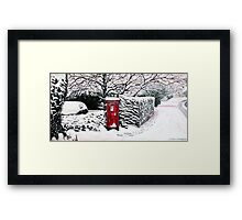 The Red Post Box  Framed Print