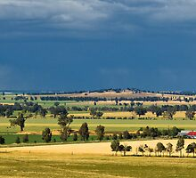 Approaching storm Grenfell - panorama by Ian Fegent