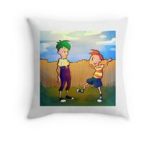 Backyard Inventors Throw Pillow