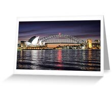 Sydney Icons at Sunset Greeting Card