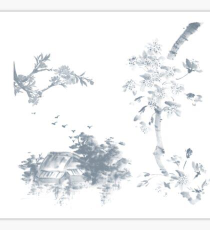 Sumi-e inspired (01) Sticker