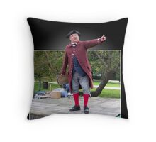 Old Town Auctioneer Throw Pillow