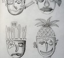Sketchbook - Domestic Heads by Thea T