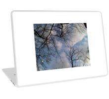 Blu sky and the trees Laptop Skin