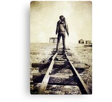 Lonesome Track Canvas Print