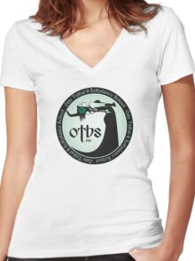 OTBS dancer in green Women's Fitted V-Neck T-Shirt