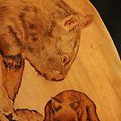 Mum & Bub Wombats by aussiebushstick