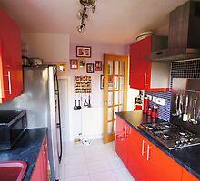 Red Kitchen by Nik Watt