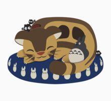 Cat Bus Snuggle Kids Tee