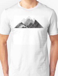 black and white mountain, mountain  T-Shirt