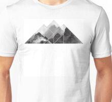 black and white mountain, mountain  Unisex T-Shirt