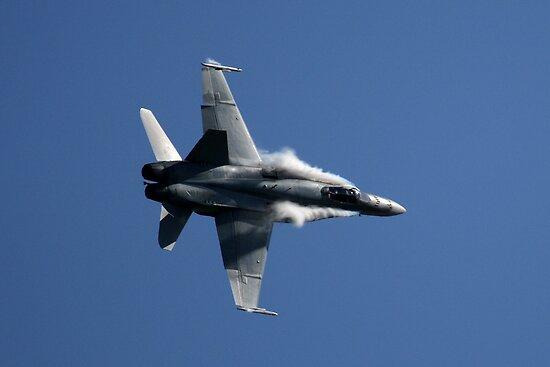 RAAF F/A 18 Hornet High G Turn by Matthew Smith