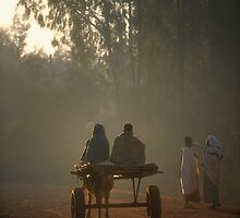 Early morning commuters in Bahir Dah by Heather Prince ( Hartkamp )