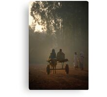 Early morning commuters in Bahir Dah Canvas Print