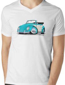 Volkswagen Beetle Cabriolet (2-Tone) Turquoise Mens V-Neck T-Shirt