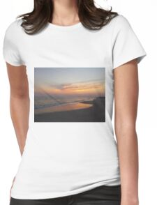 Beautiful Sky On The Beach Womens Fitted T-Shirt