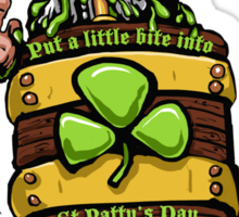 Put a little bite into St Patty's Day Sticker