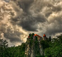 The Castle in town Bled, Slovenia by Reuven Brenner