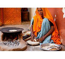 Roti Maker, Jaipur Photographic Print