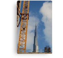 Crane to the sky Canvas Print