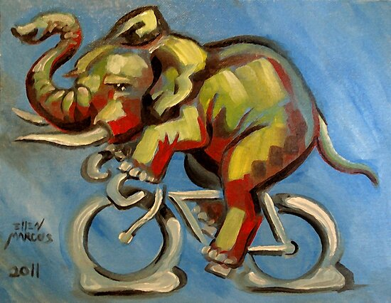 Elephas Maximus on a Bicycle by Ellen Marcus