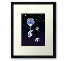 Spaceboy Framed Print