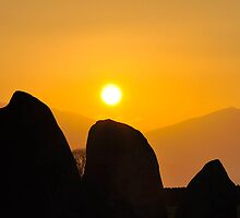 Castlerigg Stone Circle Sunset by Jacqueline Wilkinson