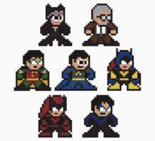 8-bit Batman Family Kids Clothes