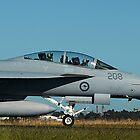 RAAF F/A-18F Super Hornet & Crew - Avalon 2011 by Bev Pascoe
