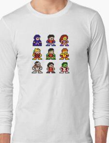8-bit Classic Teen Titans Long Sleeve T-Shirt
