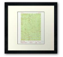 USGS Topo Map Oregon Red Butte 281238 1989 24000 Framed Print