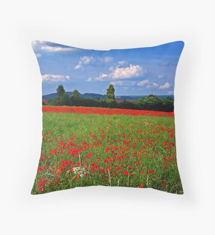 Poppy Field  (Early May) Throw Pillow