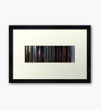 Moviebarcode: 2001: A Space Odyssey (1968) Framed Print